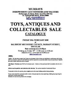 TOYS, ANTIQUES AND COLLECTABLES SALE