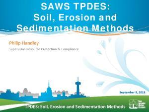 TPDES: Soil, Erosion and Sedimentation Methods