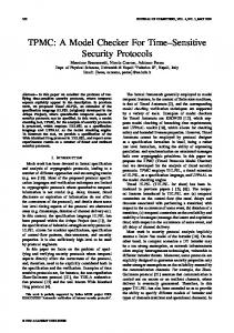TPMC: A Model Checker For Time Sensitive Security Protocols