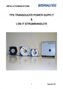 TPS TRANSDUCER POWER SUPPLY & LEM IT STROMWANDLER