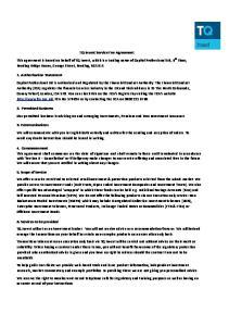 TQ Invest Service Fee Agreement