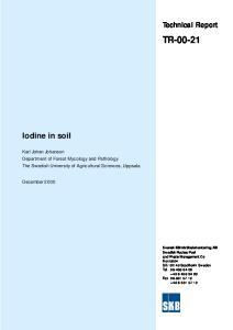 TR Iodine in soil. Technical Report