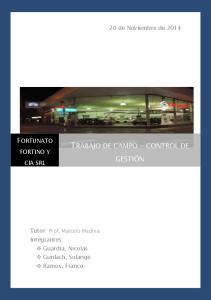 TRABAJO DE CAMPO CONTROL DE