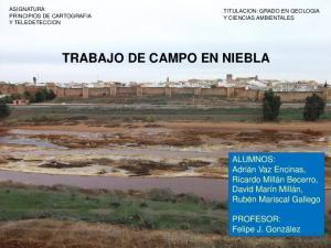 TRABAJO DE CAMPO EN NIEBLA