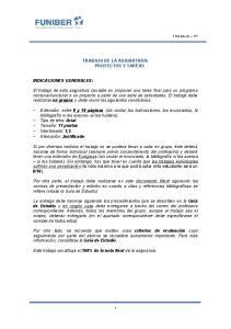 TRABAJO DE LA ASIGNATURA: PROYECTOS Y TAREAS