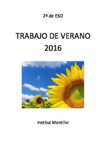 TRABAJO DE VERANO 2016