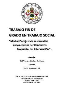 TRABAJO FIN DE GRADO EN TRABAJO SOCIAL