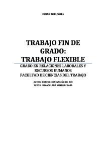 TRABAJO FIN DE GRADO: TRABAJO FLEXIBLE