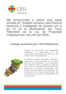 Trabajo realizado por: CEU Biblioteca