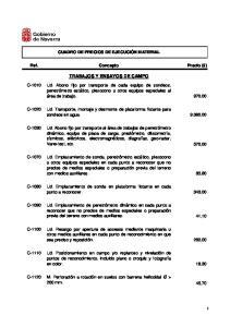 TRABAJOS Y ENSAYOS DE CAMPO