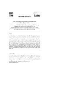 Trace element geochemistry of river sediment, Orissa State, India