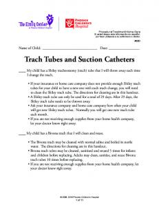 Trach Tubes and Suction Catheters