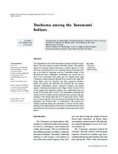 Trachoma among the Yanomami Indians