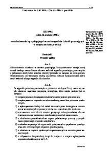 Traci moc z dn r. (Dz. U. z 2014 r. poz. 616). USTAWA z dnia 16 grudnia 1972 r