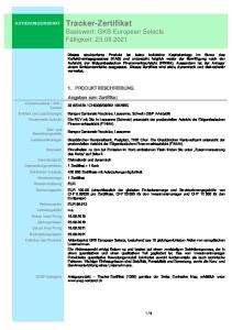 Tracker-Zertifikat Basiswert: GKB European Selects Fälligkeit: