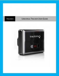TRACKIMO UNIVERSAL TRACKER USER GUIDE
