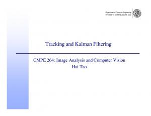 Tracking and Kalman Filtering