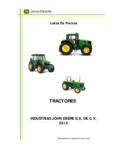 TRACTORES INDUSTRIAS JOHN DEERE S.A. DE C.V