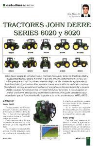 TRACTORES JOHN DEERE SERIES 6020 y 8020