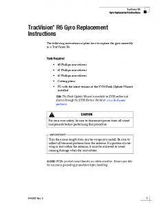 TracVision R6 Gyro Replacement Instructions