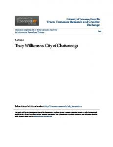 Tracy Williams vs. City of Chattanooga
