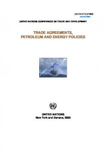 TRADE AGREEMENTS, PETROLEUM AND ENERGY POLICIES
