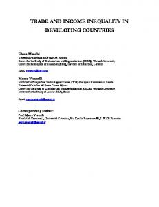 TRADE AND INCOME INEQUALITY IN DEVELOPING COUNTRIES