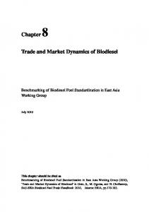 Trade and Market Dynamics of Biodiesel