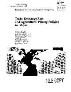 Trade, Exchange Rate, and Agricultural Pricing Policies in Ghana