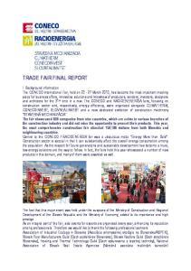 TRADE FAIR FINAL REPORT