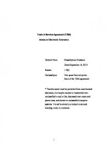 Trade in Services Agreement (TiSA) Annex on Electronic Commerce