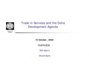 Trade in Services and the Doha Development Agenda