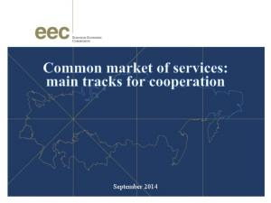 Trade in services between CU Member States. Amount of trade in services in 2013: Russia Kazakhstan mln US Dollars