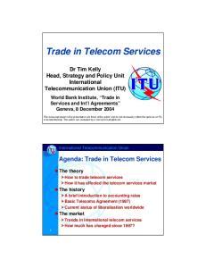 Trade in Telecom Services