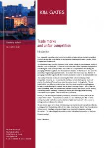 Trade marks and unfair competition