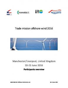 Trade mission offshore wind 2016