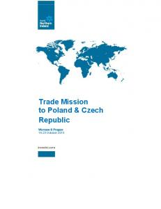 Trade Mission to Poland & Czech Republic