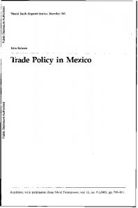 Trade Policy in Mexico