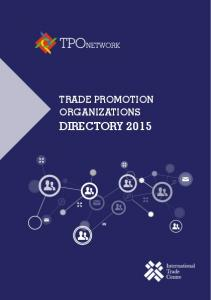 Trade PromoTion organizations directory 2015