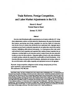 Trade Reforms, Foreign Competition, and Labor Market Adjustments in the U.S