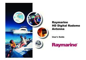 Trademarks and registered trademarks Autohelm, HSB, RayTech Navigator, Sail Pilot, SeaTalk and Sportpilot are UK registered trademarks of Raymarine