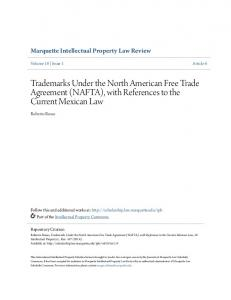 Trademarks Under the North American Free Trade Agreement (NAFTA), with References to the Current Mexican Law