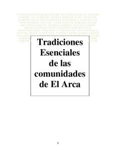 Tradiciones Esenciales de las comunidades de El Arca