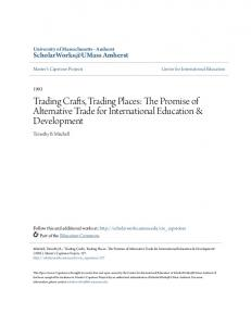 Trading Crafts, Trading Places: The Promise of Alternative Trade for International Education & Development