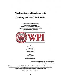 Trading System Development: Trading the 10 O Clock Bulls