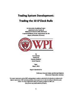 Trading System Development: Trading the 10 O Clock Bulls