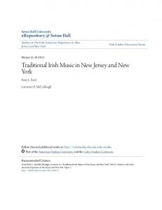Traditional Irish Music in New Jersey and New York