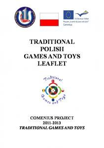 TRADITIONAL POLISH GAMES AND TOYS LEAFLET