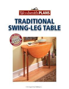 traditional swing-leg table