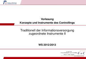 Traditionell der Informationsversorgung zugeordnete Instrumente II